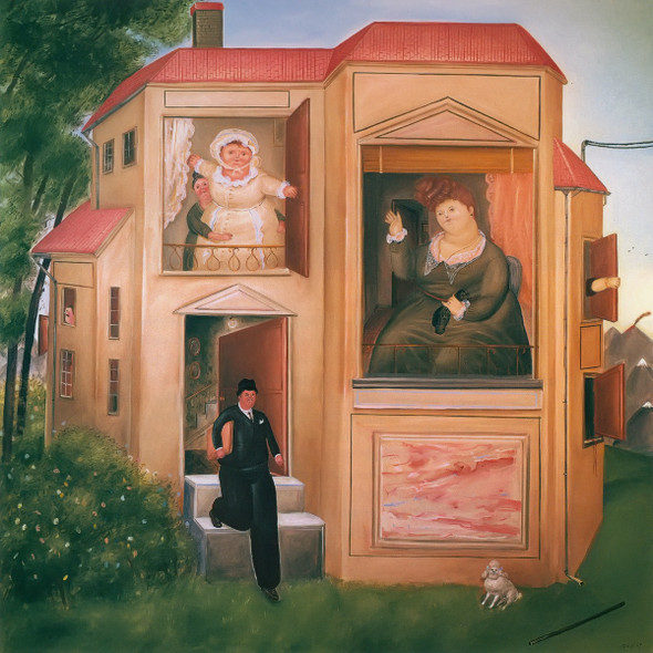 Man Going To Work by Botero Print