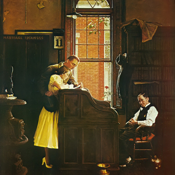 Marriage License by Norman Rockwell Print