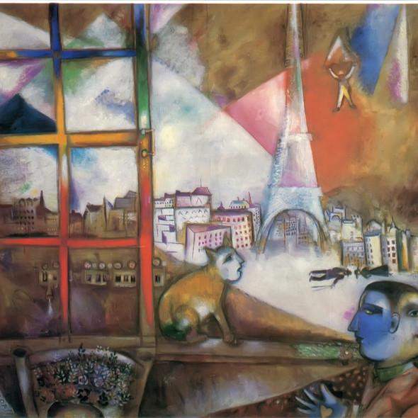 Paris Through The Window 1913 by Marc Chagall Print