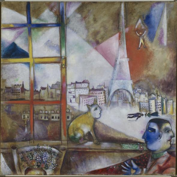 Paris Through The Window by Marc Chagall Print