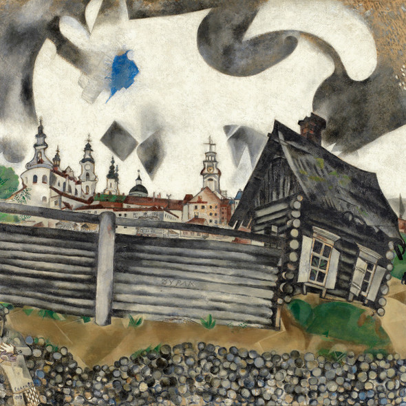The Grey House 1917 by Marc Chagall Print