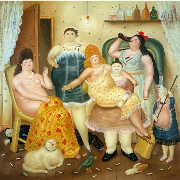 The House Of Mariduque by Botero Print