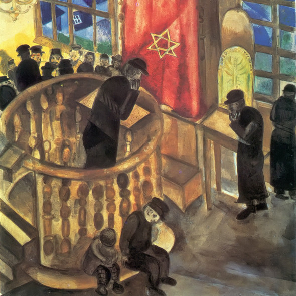The Synagogue by Marc Chagall Print