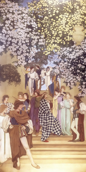 A Florentine Fete The Garden Of Opportunity by Maxfield Parrish Print