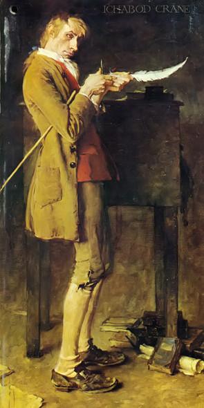 Ichabod Grane by Norman Rockwell Print
