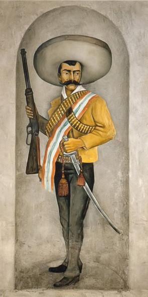 Portrait Of Emiliano Zapata by Diego Rivera Print
