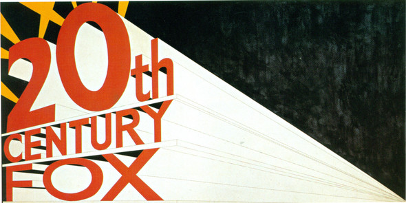 Large Trademark With Eight Spotlights 1962 by Edward Ruscha Print