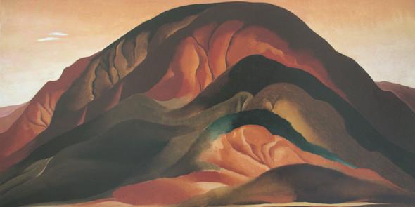 Rust Red Hills by Georgia O Keeffe Print