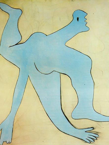 A Blue Acrobat 162x130 by Picasso Print