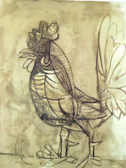 A Rooster 144x118 by Picasso Print