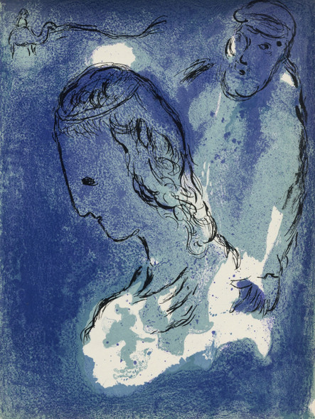 Abraham And Sarah by Marc Chagall Print