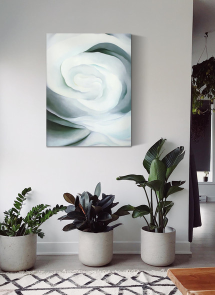 Abstraction White Rose No 2 by Georgia O Keeffe