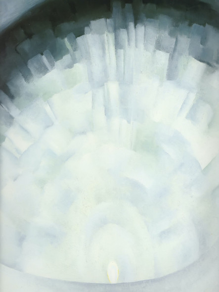 Abstraction White Rose No 3 by Georgia O Keeffe Print