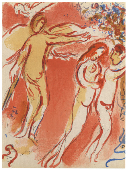 Adam And Eve Expelled From Paradise by Marc Chagall Print