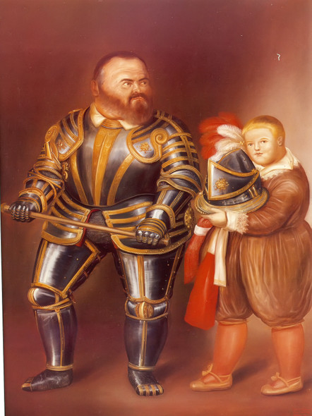 After Caravaggio by Botero Print