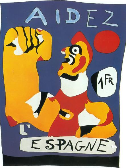 Aidez Iespagne (Help Spain) by Joan Miro Print