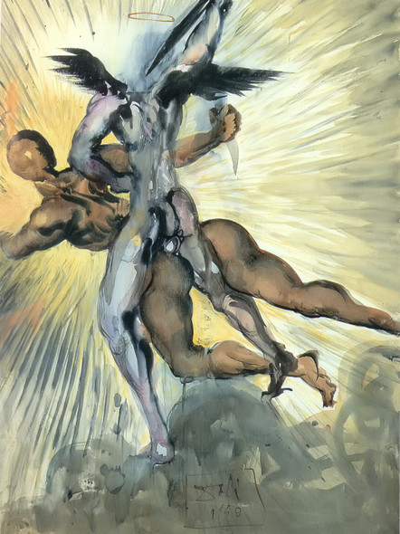 Angel Of Death From Dantes Divine Comedy by Dali Print