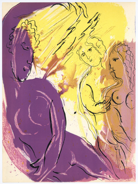 Angel Of Paradise by Marc Chagall Print