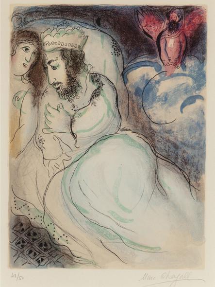 Ara Et Abimelech (From Dessins Pour La Bible) 1960 by Marc Chagall Print