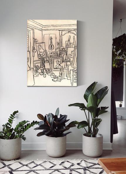 Artists Studio On Street La Boetie 62x48 by Picasso