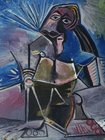 At Work by Picasso Print