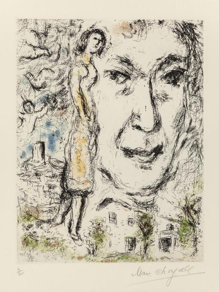 Autoportrait 1968 by Marc Chagall Print