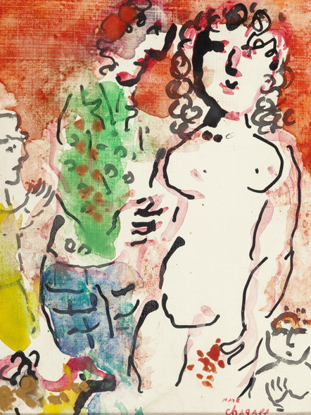 Autour De Nu Circa 1982 83 by Marc Chagall Print