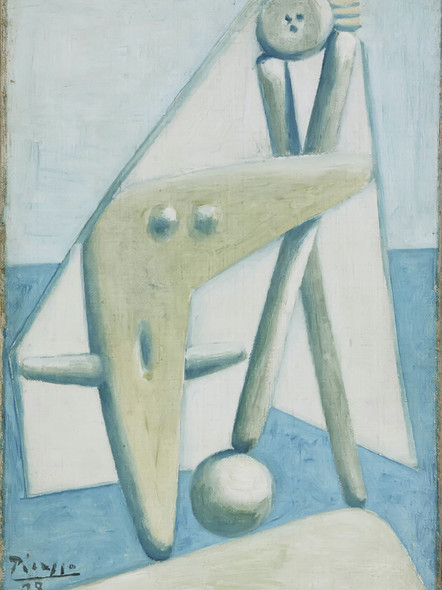 Bather Design For A Monument. Dinard by Picasso Print