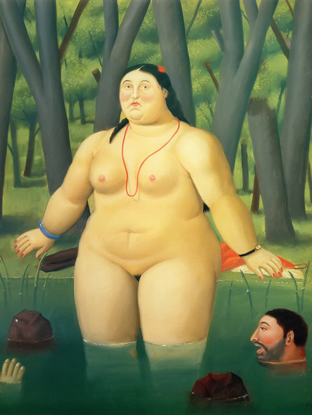 Bather In The River by Botero Print
