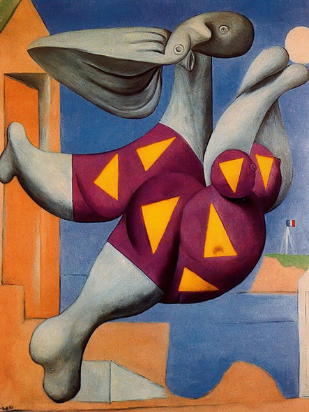 Bather With Beach Ball 146x114museum Of Modern Art New York Usa by Picasso Print