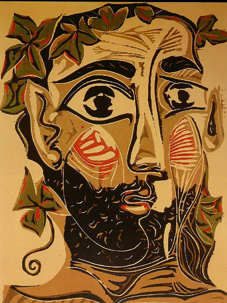 Bearded Man 35x27museu Picasso Barcelona Spain by Picasso Print