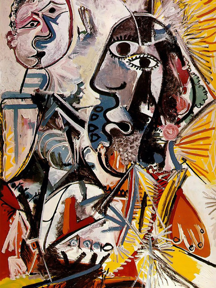 Big Heads 194x129 by Picasso Print
