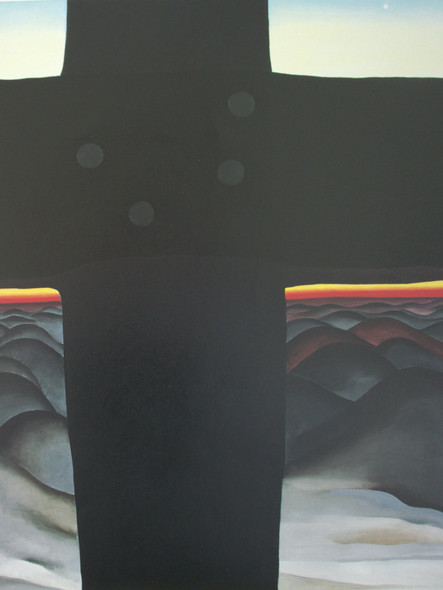 Black Cross New Mexico by Georgia O Keeffe Print