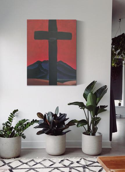 Black Cross With Red Sky by Georgia O Keeffe
