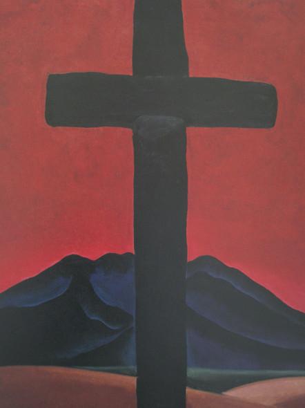 Black Cross With Red Sky by Georgia O Keeffe Print