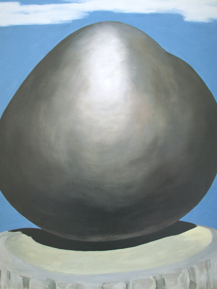 Black Rock With Blue Sky And White Clouds by Georgia O Keeffe Print