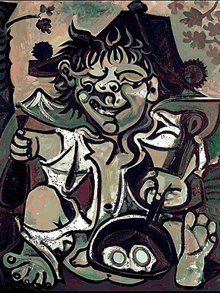 Bobo (Velazquez Murillo) by Picasso Print