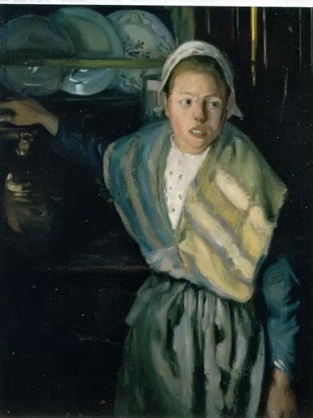 Breton Girl by Diego Rivera Print