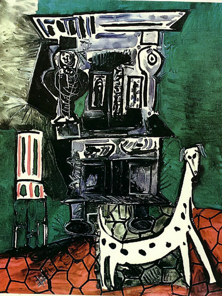 Buffet Henry Ii And Armchair With Dog by Picasso Print