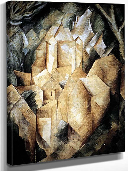 A House At Estaque 1908 By Georges Braque