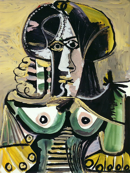 Bust Of Woman 100x81 by Picasso 1 Print