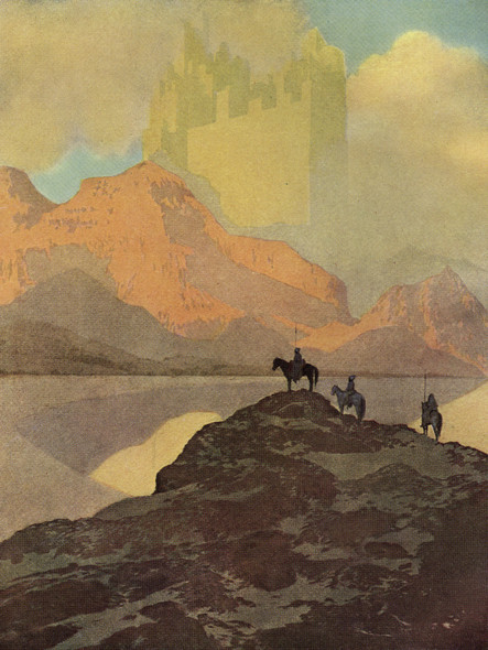 City Of Brass Illustration by Maxfield Parrish Print