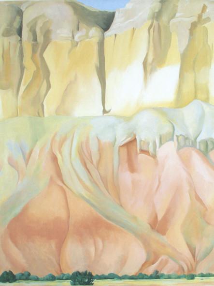 Cliffs Beyond Abiquiu by Georgia O Keeffe Print
