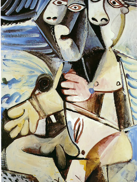 Embrace 195x130 by Picasso Print