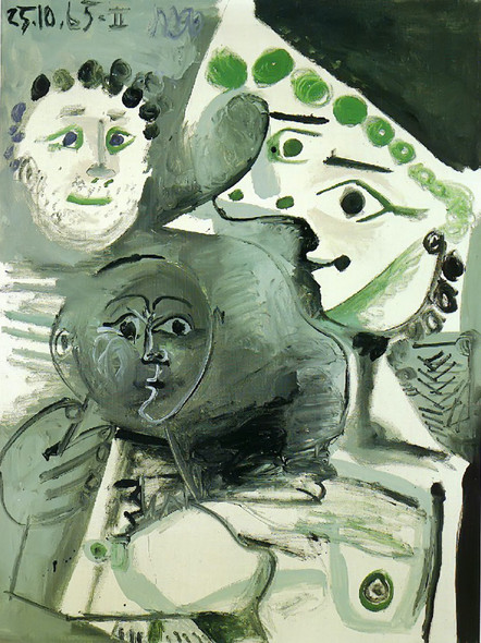 Family 130x96 by Picasso Print