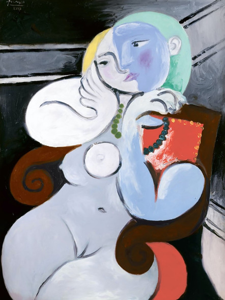 Female Nude Sitting In Red Armchair 130x97 Tate Gallery London Uk by Picasso Print