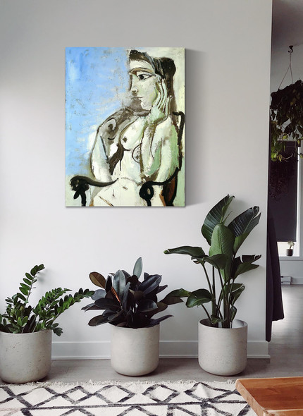 Female Nude Sitting In The Armchair by Picasso