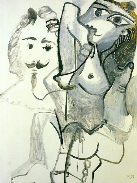 Female Nude With Mans Head by Picasso Print