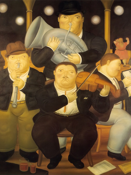 Four Musicians by Botero Print