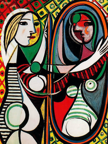 Girl In Front Of Mirror by Picasso Print